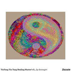 YinYang Yin Yang Healing Master's Symbols Poster