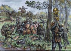 Last stand of the Roman legion in Germania