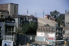 Hill Street, Bunker Hill [graphic] / Harris, L. California History, Hotel California, Bunker Hill Los Angeles, Vintage Family Photos, Downtown Los Angeles, Old Buildings, Street View, Architecture, Childhood Memories