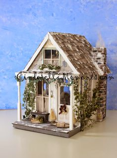 Dollhouse Miniatures Thatched Roof Dollhouse Share Repin