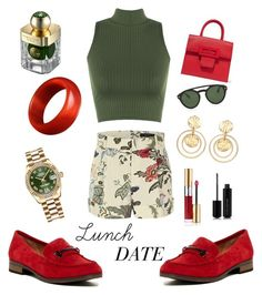 """lunch date"" by belanngill on Polyvore featuring Gucci, WearAll, Franco Sarto, Maison Margiela, Kenneth Jay Lane, Rolex, Yves Saint Laurent, Marc Jacobs, Tom Ford and Shanghai Tang"
