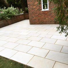 Garden Design and Build all-in-one solution based in Salisbury, Wiltshire Sandstone Paving, Garden Design, Sidewalk, Patio, Building, Side Walkway, Buildings, Walkway, Landscape Designs