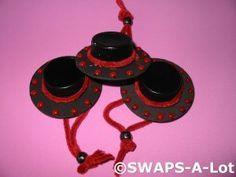 Mini Spanish Hat~Spain SWAPS Kit for Girl Kids Scout makes 25