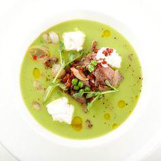 Рецепт ифото Гороховый суп с копченостями и рикоттой— Сочетайзер