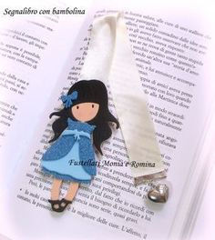 Fustellati feltro pannolenci on line stile big shot sizzix Bookmark Craft, Bookmarks, Big Shot, Fabric Dolls, Paper Dolls, Santoro London, Window Cards, Scrapbook, Sewing Toys