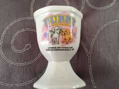 Puppy in my pocket egg cup.1995.