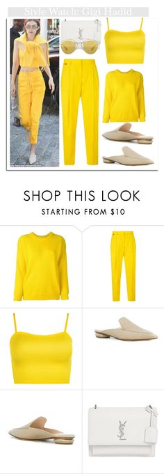 """Hello Yellow...."" by nfabjoy ❤ liked on Polyvore featuring Roseanna, Paul Smith, WearAll, Nicholas Kirkwood, Yves Saint Laurent, Christian Dior and gigihadid"