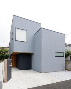Japan Modern House, Modern Tiny House, Minimalist House Design, Small House Design, Modern Exterior, Exterior Design, Minimal Home, House Paint Exterior, Japanese House