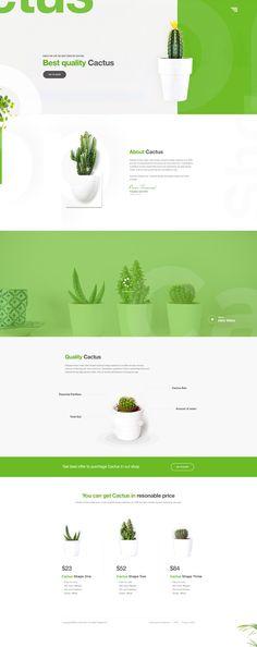 Cactus Landing Page Design Concept