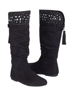 Studded Cuff Boots | Boots | Shoes | Shop Justice