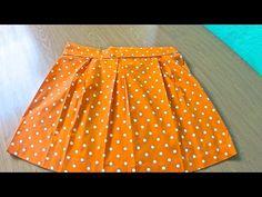 Falda de tablas. Pleated skirt - YouTube Youtube, Sewing, Fashion, Dressmaking, Single Wide, Free Pattern, Blouses, How To Make, Style