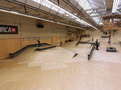 New indoor skatepark in weston super mare Weston Super Mare, Skate Park, Skateboards, Bmx, Building Design, Abandoned, Layouts, Indoor, Urban