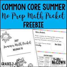 Need a free Summer packet to help your kid review important math skills? This is the perfect setup. Students learn and review key math skills necessary for the next grade level. Download your FREE math worksheets today! Problem Solving Activities, Math Activities, Math Resources, Math Lessons, Math Skills, Teaching Math, Teaching Ideas, Free Math Worksheets, 7th Grade Math