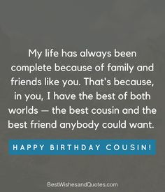 53 Ideas For Birthday Happy Cousin Quotes Beautiful Happy Birthday Cousin Girl, Long Birthday Wishes, Cousin Birthday Quotes, Funny Birthday Message, Happy Birthday Ecard, Birthday Jokes, Best Birthday Quotes, Happy Birthday Wishes Quotes, Happy Birthday Images