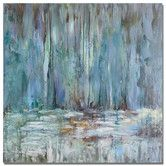 Found it at Wayfair - Blue Waterfall Original Painting on Canvas