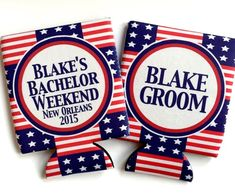 American Flag Party favors, 'merica bachelor party koozies. america groomsman favors. #america