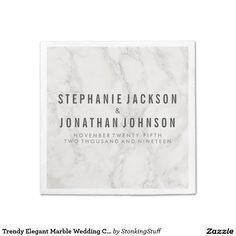 Trendy Elegant Marble Wedding Celebration
