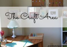 The Craft Area -- how I organized my knitting and other crafting supplies on a budget!)