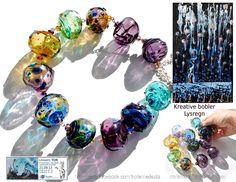 Handmade hollow lampwork beads Trollsmed Lise Nilsen for Tor Rafael Raael
