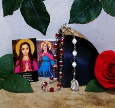 Unbreakable Traditional Catholic Relic Chaplet of St. Philomena - Patron Saint of Students, Desparate and Lost Causes, Against Infertility by foodforthesoul on Etsy