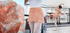 Chiffon ballet wrap skirt