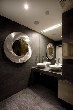 In a privileged location in Budapest, at the foot of the castle and right on the Danube, you can stay in the multi-award winning design hotel Lánchéd 19 Design Hotel, Budapest, Buda Castle, Double Vanity, Contemporary, Modern, Mirror, Architecture, Furniture