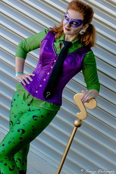 Riddler Cosplay http://geekxgirls.com/article.php?ID=4833