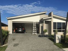 Before installation of Overlapping Driveway Shade Shade Sails in Wakerley, Brisbane