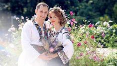 Iulia și Andrei. Nuntă tradițională în Bucovina. Weeding, Folk, Crown, Traditional, Couples, Wedding Dresses, Icons, Fashion, Embroidery