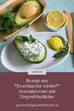 Avocadocreme mit Ziegenfrischkäse stammt aus dem Kochbuch Es schmeckt wieder! Rezepte für Menschen mit Kau- und schluckstörungen. #dysphagie #avocado #kochbuch #rezept