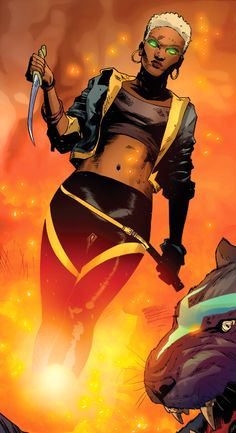 Kymera (Earth-TRN311) from X-Men Vol 4 14 0001 The daughter of Storm and Black Panther