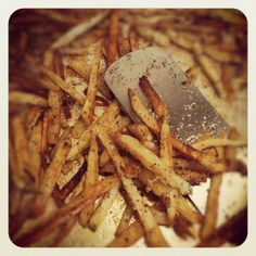Italian Oven Fries, Extra Crispy!  Great dinner side dish!