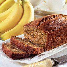 banana bread-diabetic dessert recipes with splenda (yummy snacks banana bread) Diabetic Desserts, Diabetic Recipes, Cooking Recipes, Diabetic Bread, Paleo Bread, Bread Food, Diabetic Foods, Easy Bread, Healthy Recipes