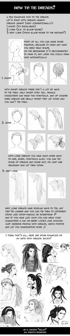Dreads tie tutorial by ElaRaczyk