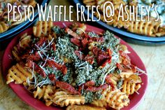 Pesto Waffle Fries @ Ashley's. Maybe I have a reason to go to Michigan now... | 23 Reasons Ann Arbor Is The Best Food Town In All The Land