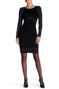 Long Sleeve Bodycon Sweater Dress