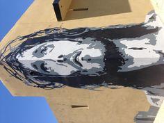 Jesus mural , downtown LA