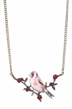 From Paris with Love! Birdie Picture That! bronze necklace  € 12.95  Vintage inspired long Birdie Picture That! bronze necklace of From Paris With Love! What a beauty! Long necklace with beautiful pendant. The bird is finished with a fashionable Photographic, making the bird very realistic. The twig is down to every detail and the blossom is beautiful warm red. Executed in bronze metal (nickel free) with lobster clasp.