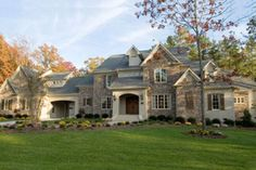 European Style House Plan - 4 Beds 6 Baths 5400 Sq/Ft Plan #61-189 Exterior - Front Elevation - Houseplans.com