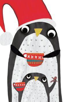 Katie Saunders - Xmas Penguins Dad Ks