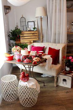 Mesa de café da manhã para o Dia dos Namorados