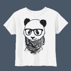 Hipster Panda cute t-shirt by airwaves custom tees