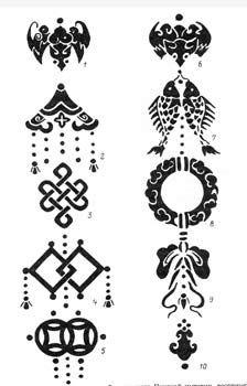 Hand-etched tibetan buddhist om mantra & 8 auspicious