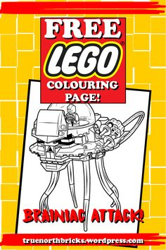 This week, I have a little something different for you. Usually, every Sunday, I post a Minifigure colouring page. This week, there is a Minifigure in the picture, but I am also posting my first LE…