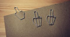 Middle Finger Paperclips - Done.