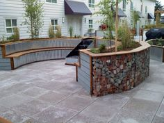 Low Cost gabion curved garden walls Cheaper than block stone gabion walls are easy to build  http://www.gabion1.com.au