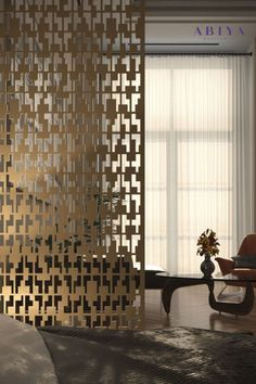Bespoke Room Dividers / Room Partitions by ABIYA Mashrabiya. Metal Decorative Laser Cut Screens that you can customize by visting our website. #abiya #mashrabiya #pattern # design #roomdivider #roompartition #decorativescreen #arabic Decorative Screen Panels, Decorative Room Dividers, Decor Interior Design, Interior Decorating, Add A Room, Laser Cut Screens, Room Partition Designs, Architectural Elements, Room Partitions