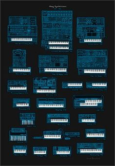 Nice screen printed synth poster!