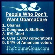 People who don't want to sign up for Obamacare