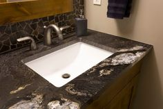 Often overlooked during home renovations, give some love your main floor bathroom – it's a good way to make a first-impression when hosting company Bathroom Renovations, Powder Room, Sink, Construction, Home Decor, Sink Tops, Building, Vessel Sink, Decoration Home